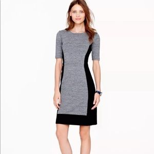 J. Crew black color block sheath dress size 10